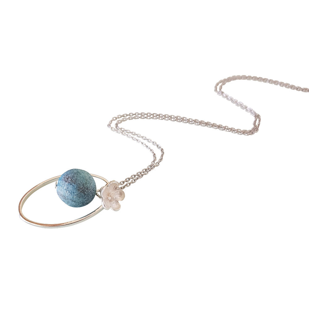 Geode Turquoise Necklace