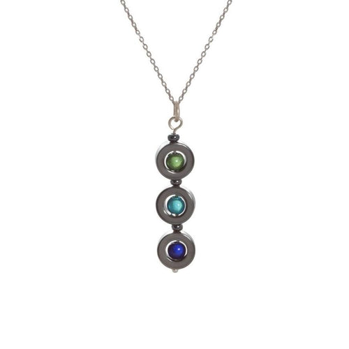 3 Drop Hematite Necklace