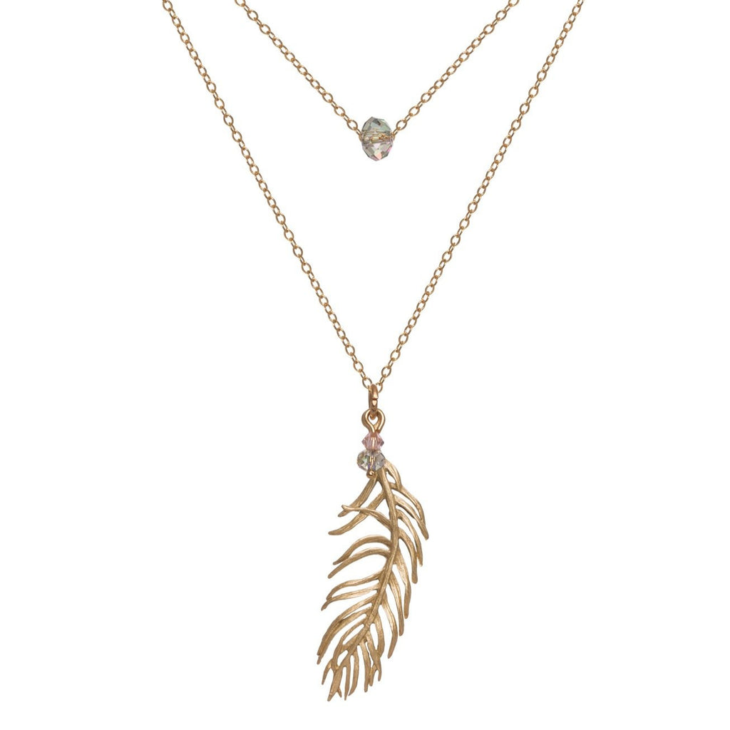 Drop Feather Necklace
