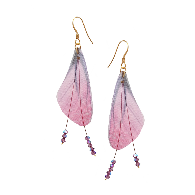 Wings Fuchsia Earrings