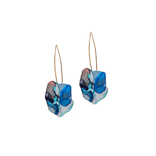 Álainn Blue X Drop Earrings