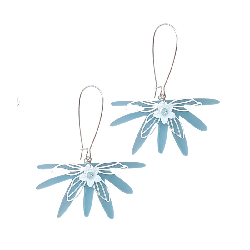 Sea Breeze Loops with Flower Earrings
