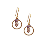 Cherry Leaf Small Loop Earrings