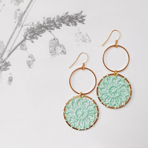 Dreams Earrings, Mint.