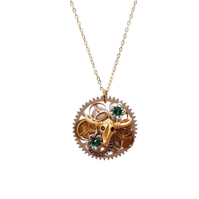 Steampunk Necklace. The Bull.