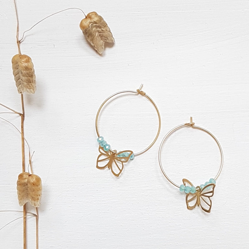 Butterfly Loops Earrings