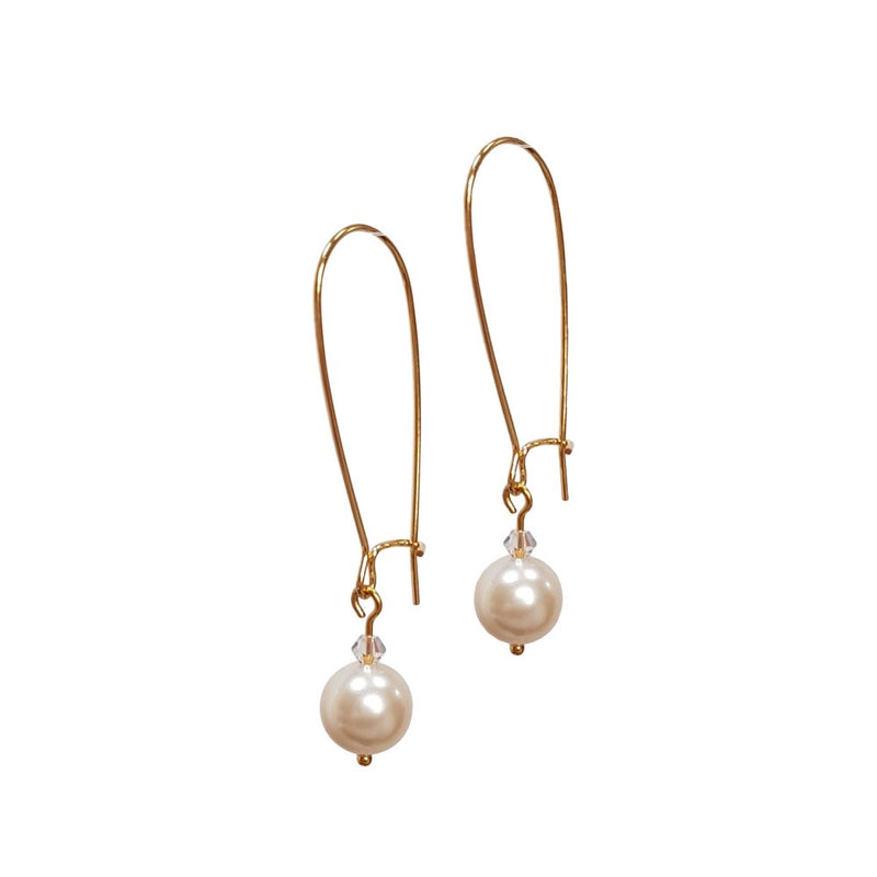 Pearl Dangle, Swarovski Crystal Pearls.
