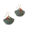 Clam Shell & Coral Earrings
