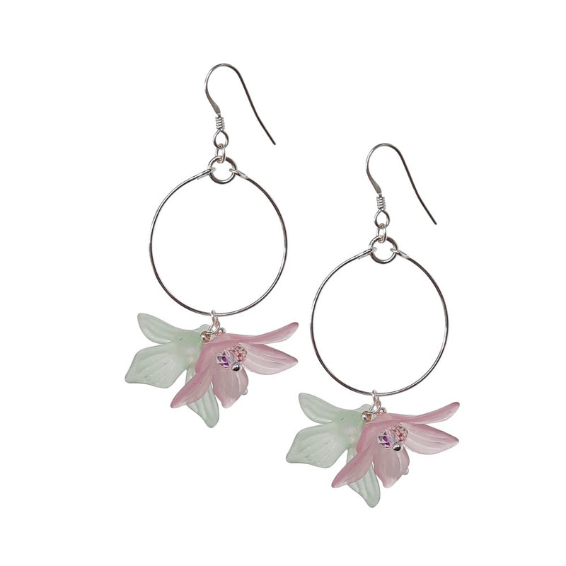 Lily Drop Loop Earrings