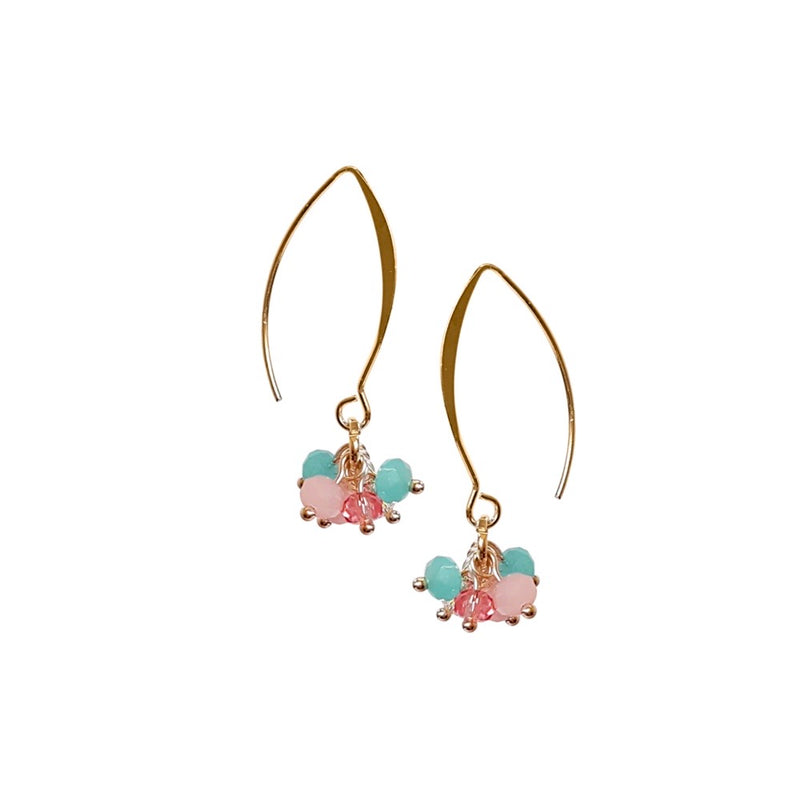 Summer Clusters. Earrings.