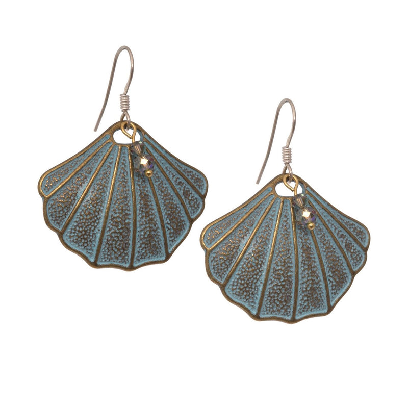Verdigris Shell Earrings