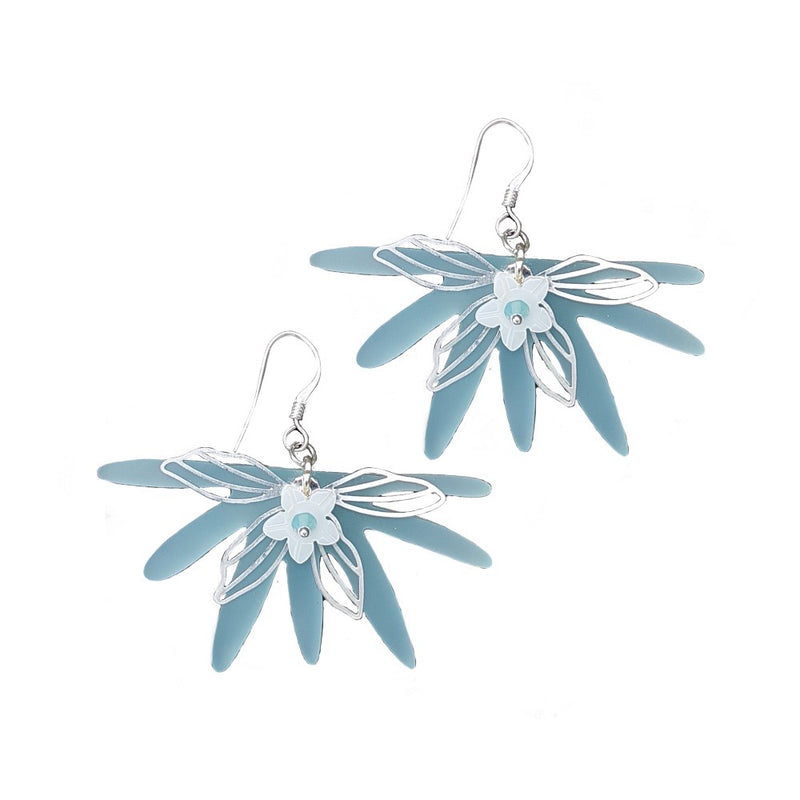 Sea Breeze with Flower Earrings