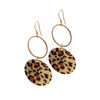 Boho Leopard Loop Earrings