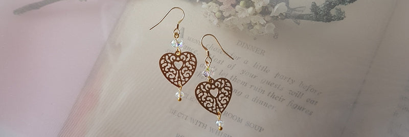 Filigree Heart Earrings