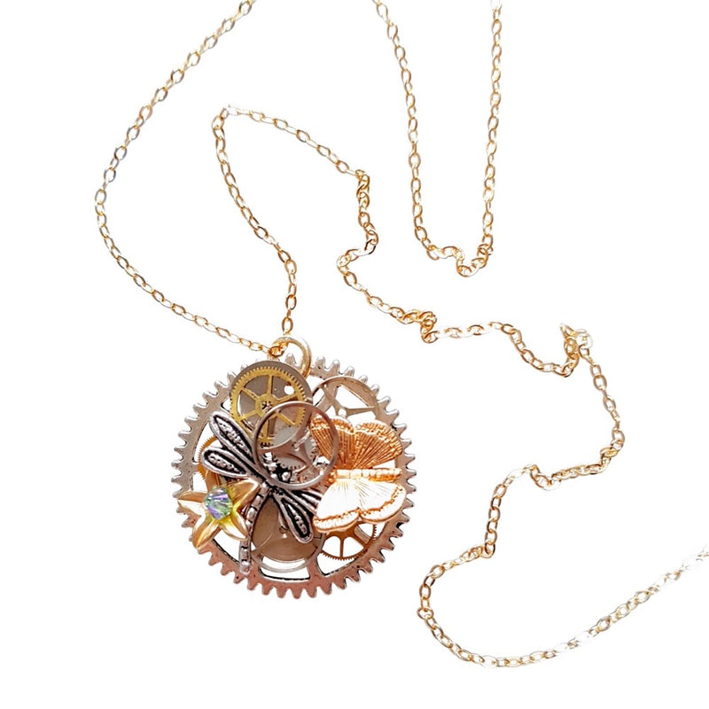 Steampunk Winter Garden Necklace