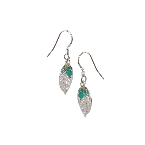 Filigree Small Leaf Earrings