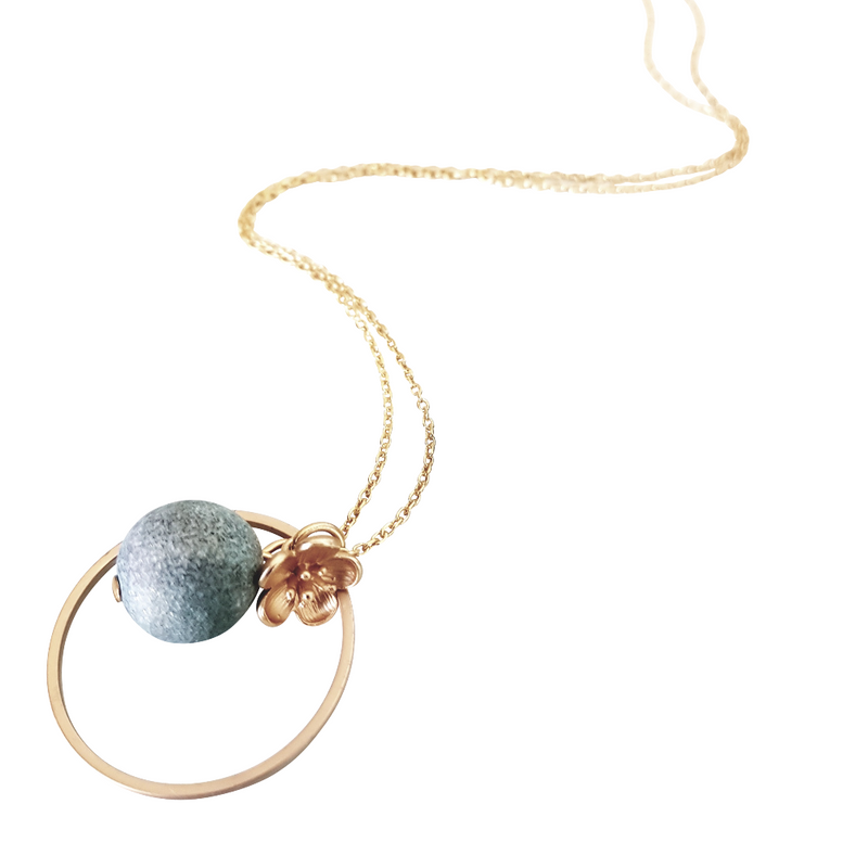 Geode Green Necklace