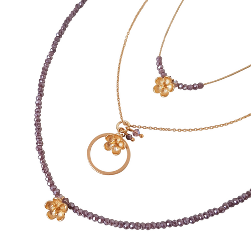 Little Flower Bud Small Loop Necklace