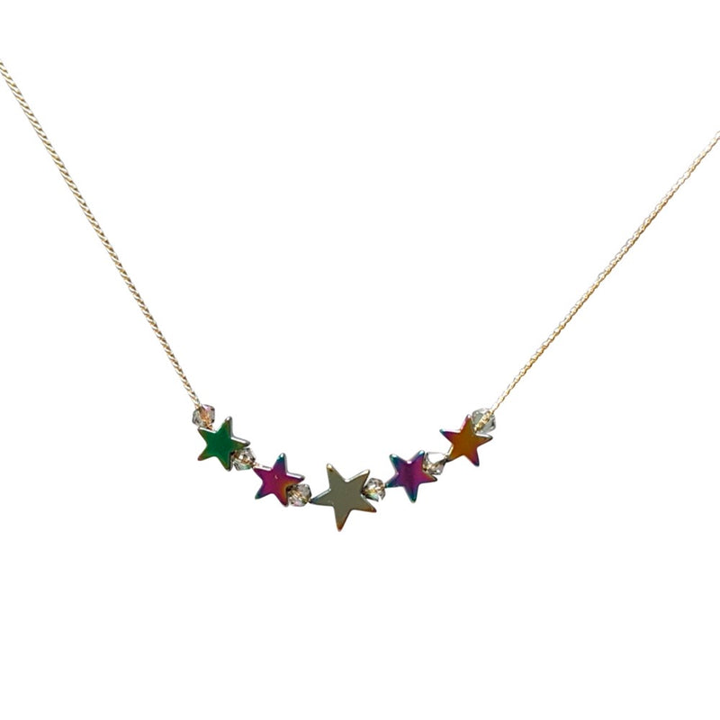 Mini Hematite Star Necklace