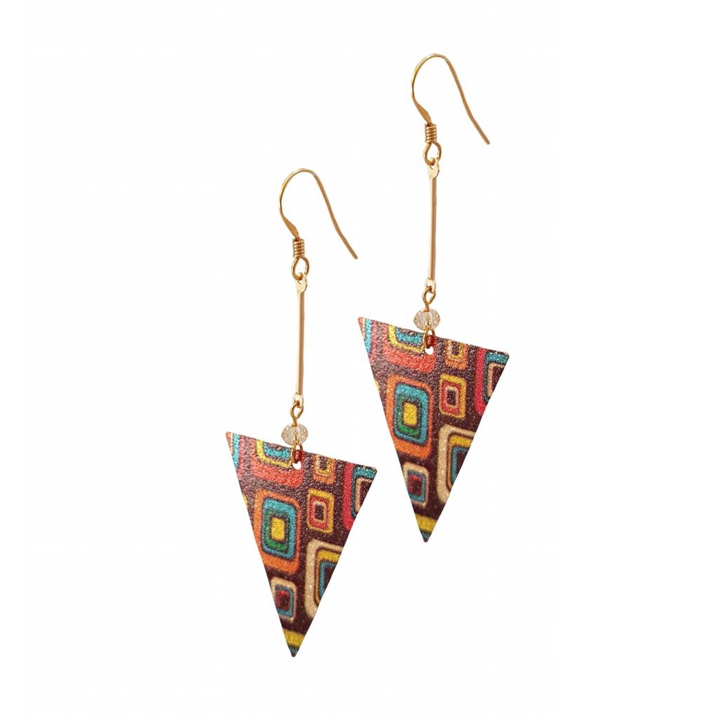 Boho Chic Retro Bar Drop Earrings