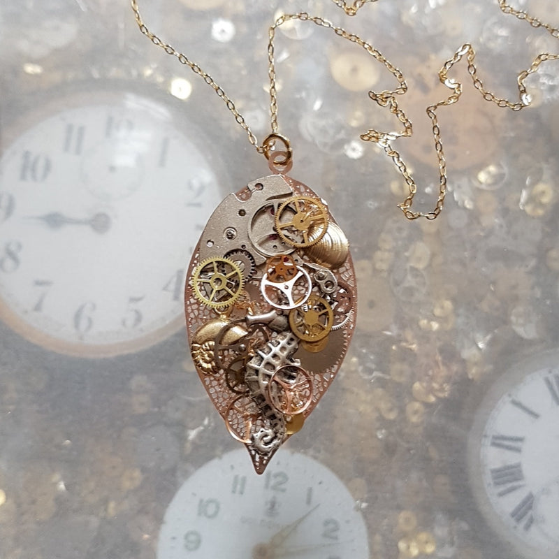 Sea Shore Steampunk Necklace.