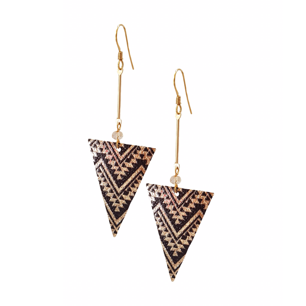 Boho Zig Zag Bar Drop Earrings