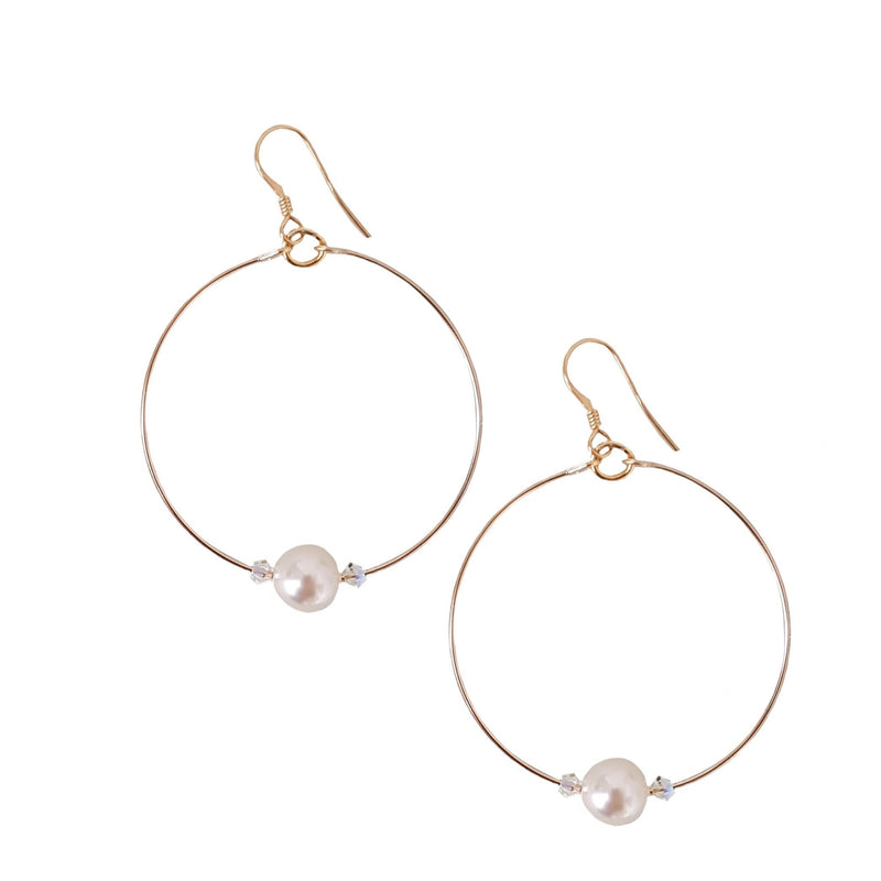 Pearl Large Loop Earrings