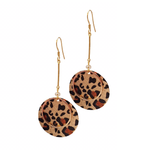 Boho Leopard Bar Drop Earrings