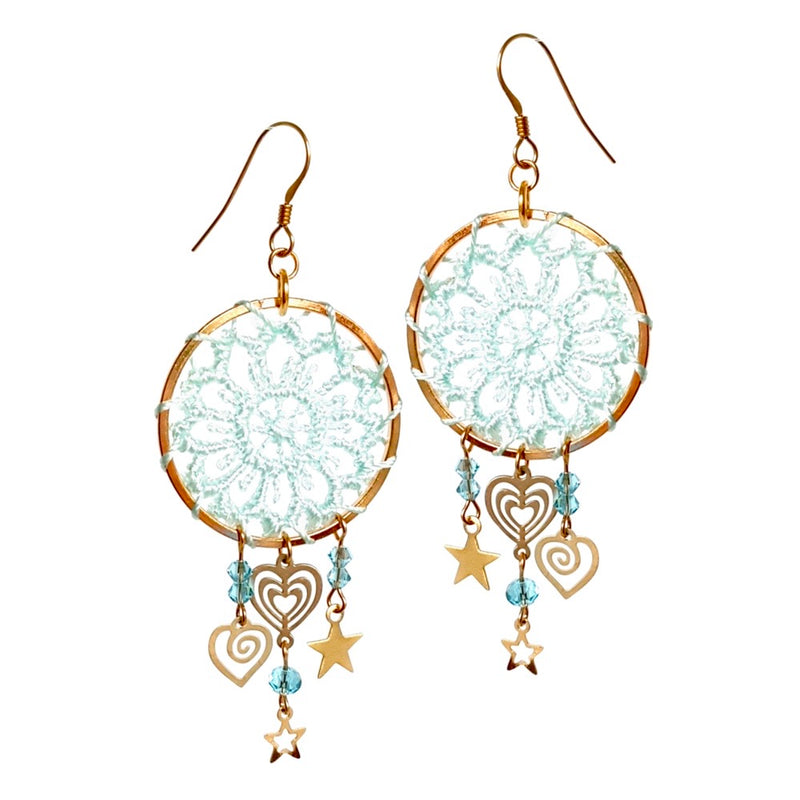 Dream Catcher. Earrings.