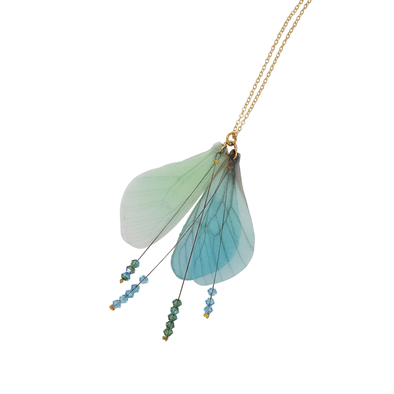 Wings Turquoise & Green Mix Necklace