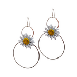Mad Daisies. Large Loop Earrings.
