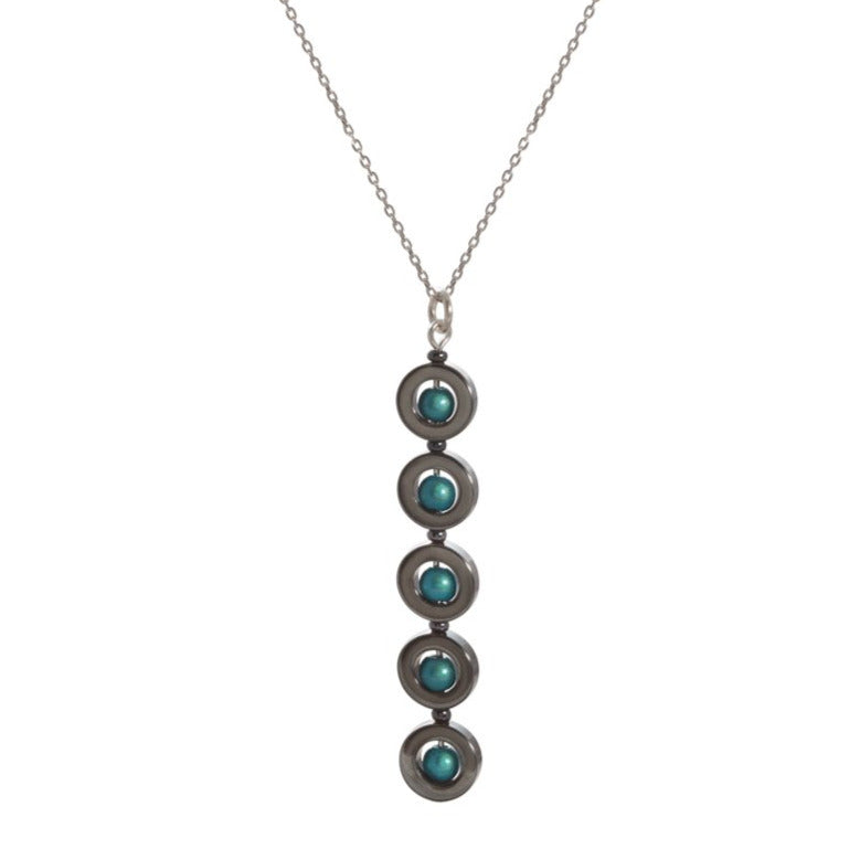 5 Drop Hematite Necklace