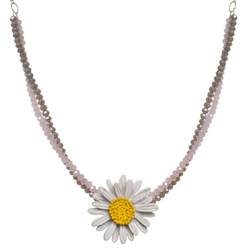 Daisy Chain White Necklace