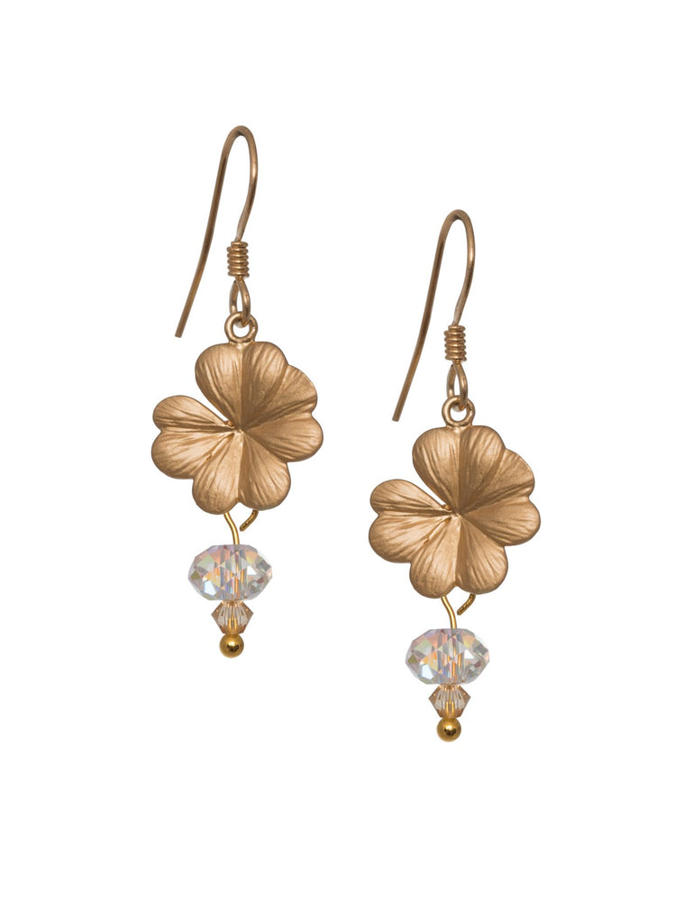 Flower and drop Swarovski Crystal Earrings