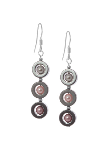 Hemitite 3 Drop Earrings