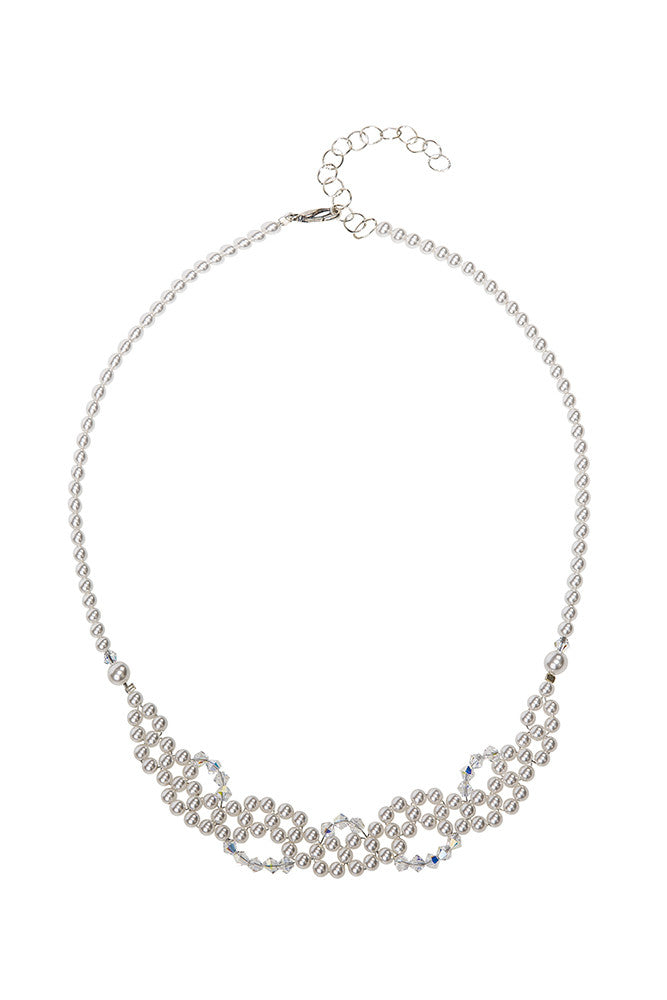 Twisted Swarovski Crystals & Pearls Necklace
