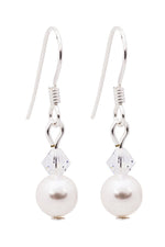Swarovski Drop Pearl Earrings