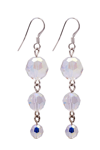 3 Drop Swarovski Crystal Earrings