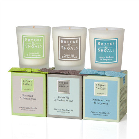 Brooke & Shoals - The Citrus & Woods Collection Candle Gift Set - 3 Pack