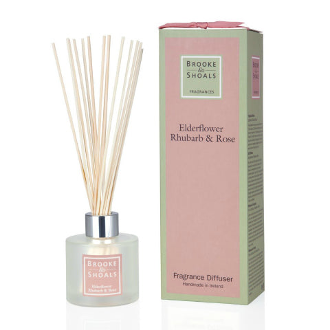 Brooke & Shoals Reed Diffuser_Elderflower Rhubarb & Rose