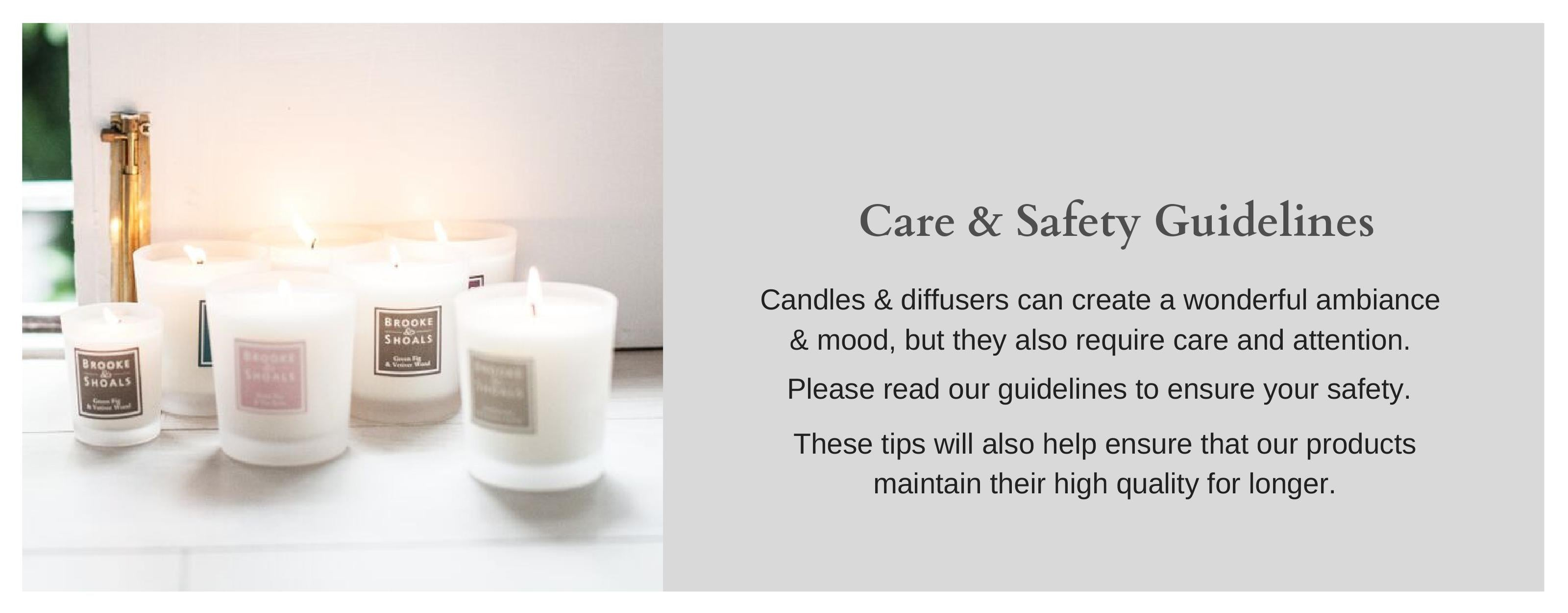 Scented Candle & Diffuser Safety - Brooke & Shoals Fragrances