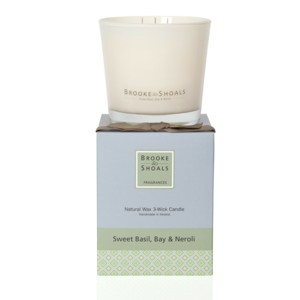 3 Wick Scented Candle - Sweet Basil Bay & Neroli