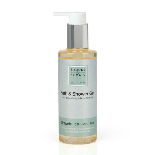 Natural Bath & Shower Gel - Grapefruit & Geranium