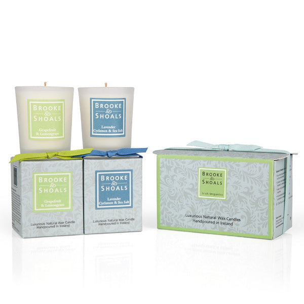 2 Travel Candles Set - Citrus & Floral Scents