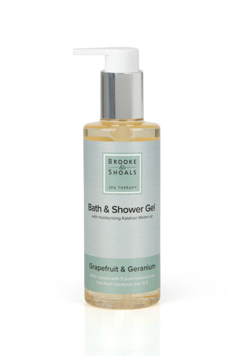 Natural Bath & Shower Gel - 'Grapefruit & Geranium' - Brooke & Shoals