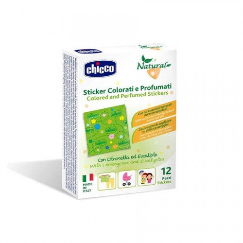 Chicco Natural Sticker Colorati e Profumati 12 Pezzi