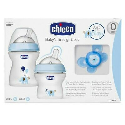 CHICCO SET NATURAL FEELING Azzurro
