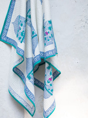 Noor Hand Block Print Cotton Bath Towel