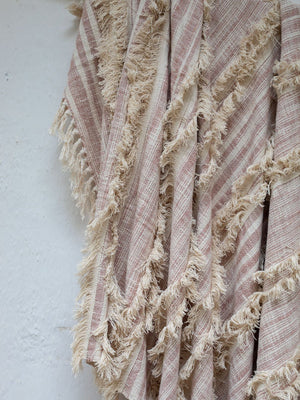 Everest Embellished Handwoven Throw with Tassels