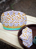 Fields of Sunflower Hand Block Print Cotton Quilted Tea Cozy - Pinklay